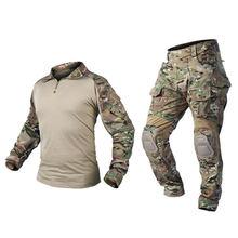 Тактическая камуфляжная форма, боевая одежда для мужчин- (RG) XXL(Китай)