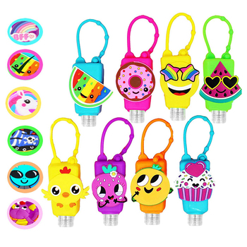 30ml 50ml 60ml good price cute character hanging silicone gel holder hand sanitizer holders for backpack