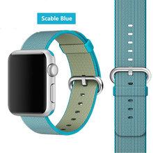 Нейлоновый ремешок для часов Apple, 44 мм, 40 мм, iwatch, ремешок 42 мм, 38 мм, тканый нейлоновый спортивный Браслет apple Watch 5, 4, 3, 2, аксессуары(Китай)