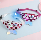 Sequin Bag 2020 Latest Fish Scale Sequin Mermaid Tail Creative Fashion Children's Waist Bag Travel Bag