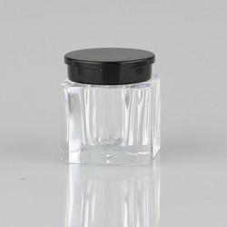 3g square PS Cosmetics loose powder jar, 3ml plastic face cream jar,glitter powder bottle