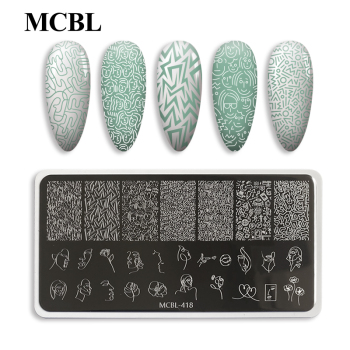 6*12 cm Customized Design Stamping Polish Plates Hot Nail Art Plate DIY Nail Painting Tool OEM&ODM Hot Stamping Plate