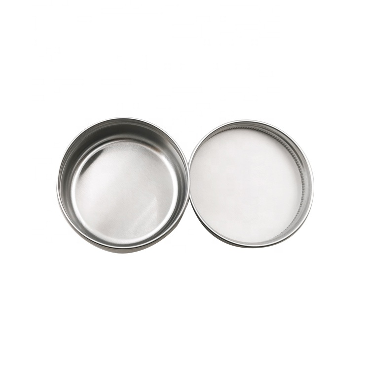 20ml 30ml round metal can custom logo printing aluminum jar for tea candy wax