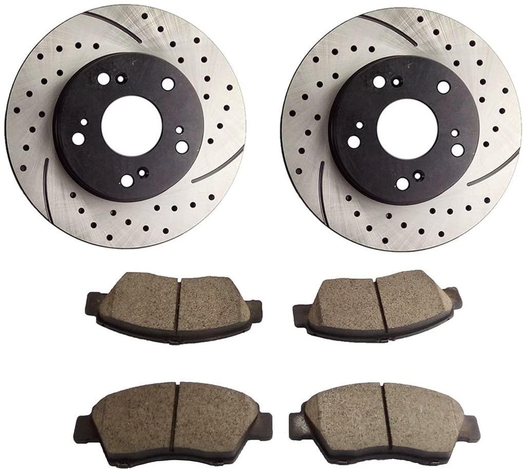 Brembo Rear Brake Kit Ceramic Pads Disc Rotors For Integra RSX Accord Civic