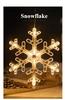 Snowflake With Warm White Light