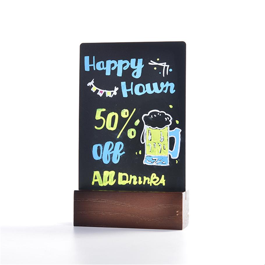 Mini Tabletop Chalkboard Signs With Vintage Style Wood Base Stands - Yola WhiteBoard | szyola.net
