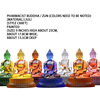 9-inch glazed pharmacist Seven Buddhas / Zun (painted models)