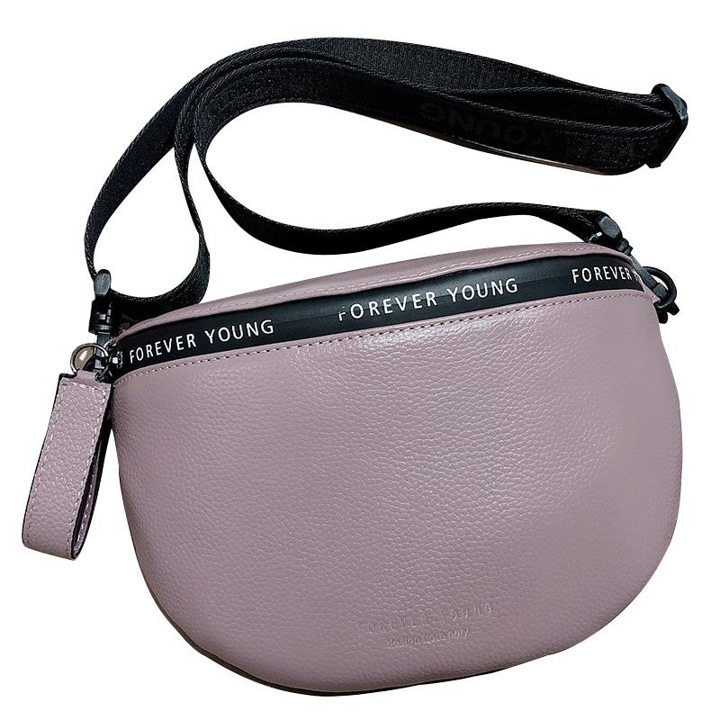 Женские сумки через плечо из натуральной кожи, известный бренд, женская сумка на плечо, модный широкий плечевой ремень, мягкая Маленькая жен...(Китай)