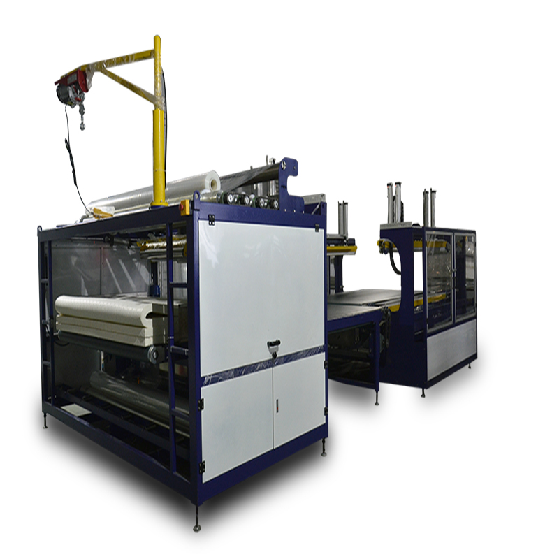 Automatic mattress compression packing wrapping machine