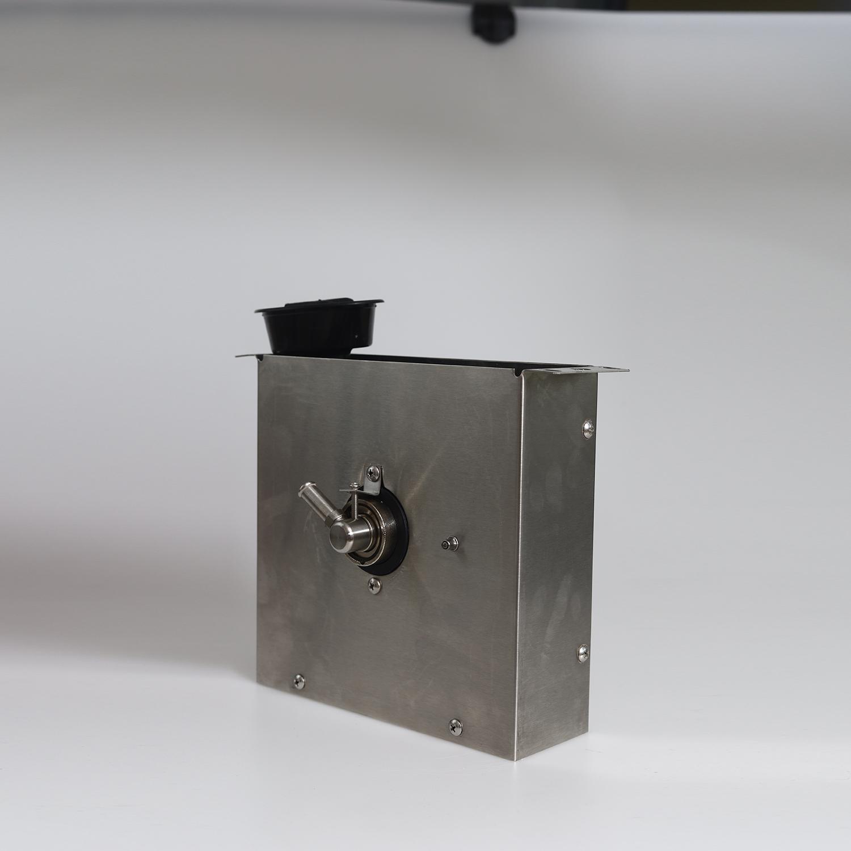 Закрытая катушка для шланга духовки с кожухом из нержавеющей стали, шаровой клапан с отключением четверти, самозакрывающийся клапан с кнопкой распыления