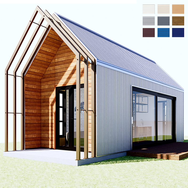 Quacent Luxury Modular Cheap Modern Style Villa House Kit Prefab Home Gauge Tiny Wooden Hotel House Villa For Holiday Hut Huis