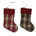 Christmas Stockings Decoration 2020 Wholesale Plaid Christmas Tree Hanging Decoration Socks Stockings In Bulk