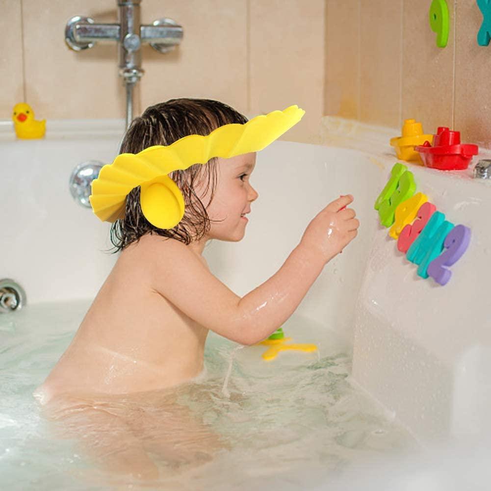 Оптовая продажа, высокое качество, детская Регулируемая Шапочка для душа, можно подгонять, детская шапочка для душа