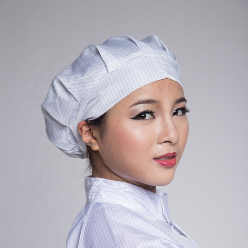 China manufacturer antistatic hat for cleanroom/Stripe Polyester ESD Caps/Antistatic cleanroom caps - KingCare | KingCare.net
