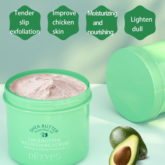 wholesale hot shop deep cleansing spa exfoliating natural whiteningbody Shea Butter hand face body scrub