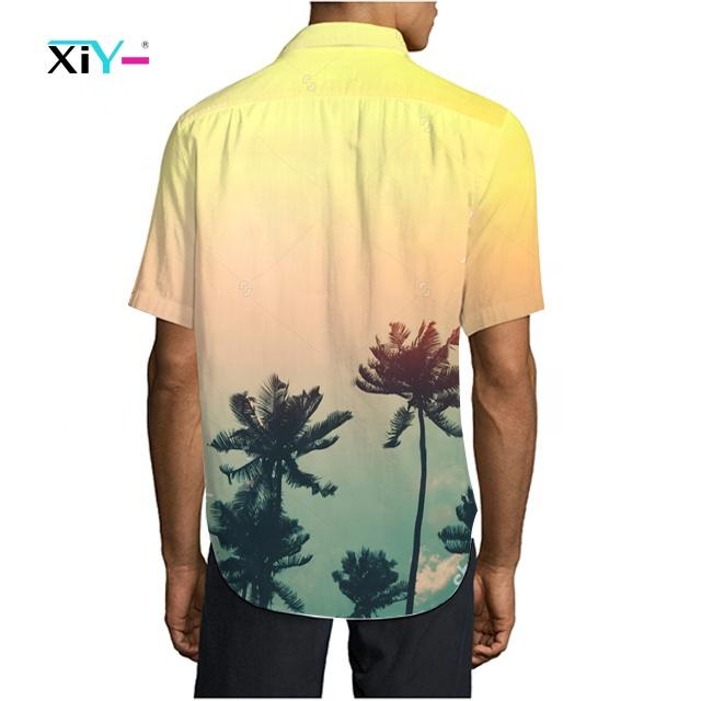 Custom Mens Printing Short Sleeve Shirt