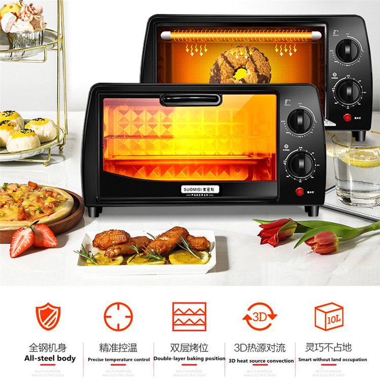 New Design 12l Electric Pizza Baking Toaster Oven