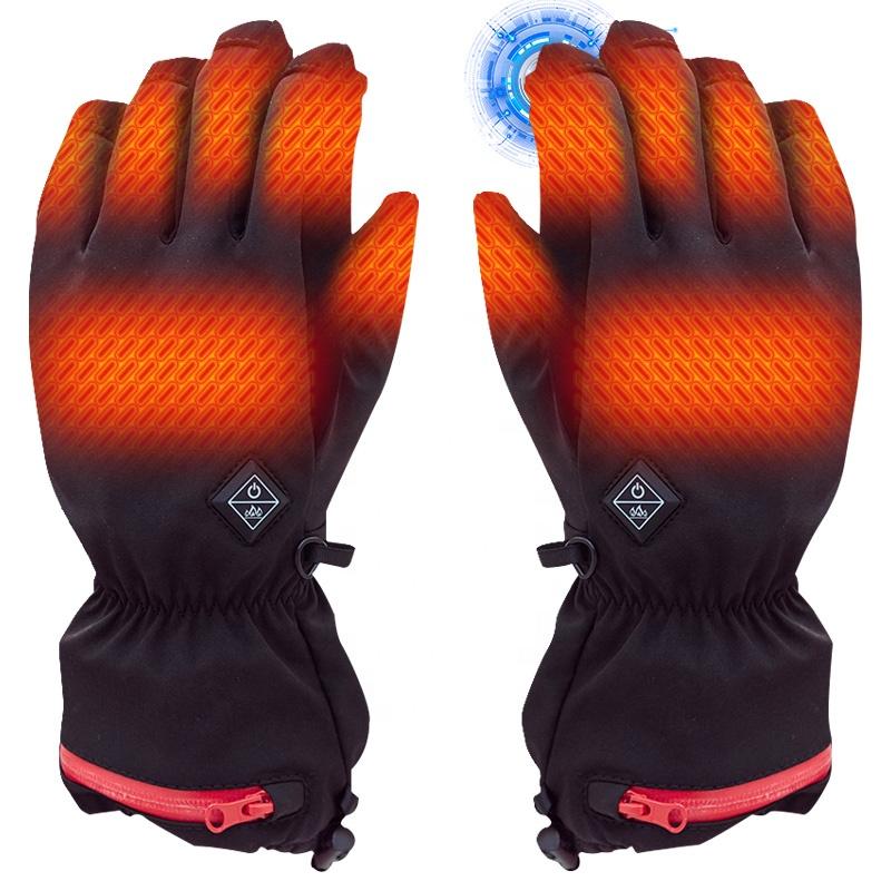 Аккумуляторная батарея USB с подогревом Электрический мотоцикл теплые черные лыжные зимние обогрев защитные перчатки