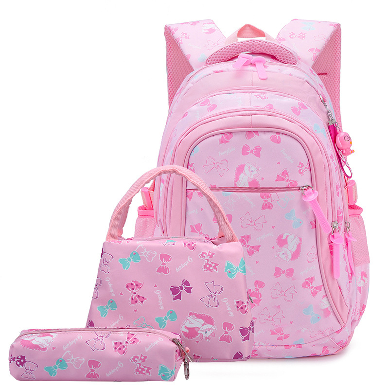 School back pack Kids School Bags Set Girls Butterfly Printing Bookbags Children Backpacks Set with Lunch Bag and Pencil Case