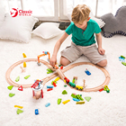 Train Track Train Train Sets Educational Role Pretend Play Toy 75 Train Set Wooden Slot Track Toys