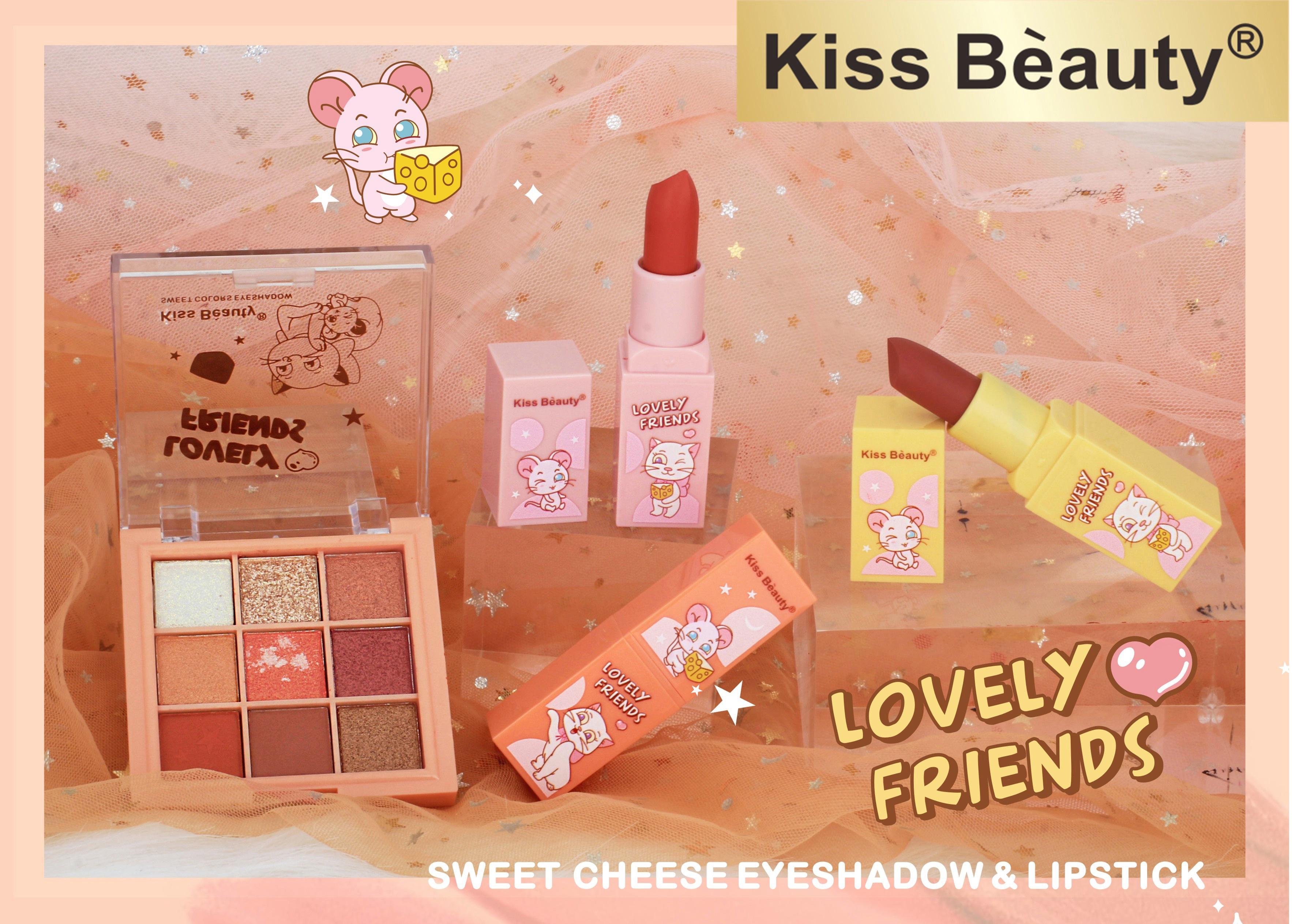 Wholesale fashion makeups lipstick and eyeshadow set