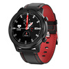 Black And Black Red Leather Strap