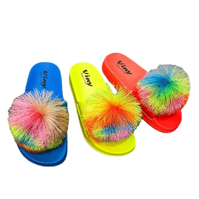 Womens Sandals Slippers Summer Fashion Fluffy Top Cool Charming Woman Slippers 2021
