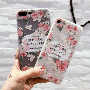 Summer style transparent phone case for huawei flower hello kitty cute design phone case for iphone