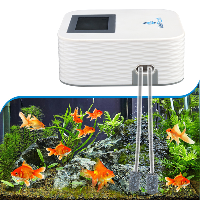 Heto 80GPH Smart Air Pump AC/DC,  Aquarium Air pump, Air Pump Aquarium  for Aquarium and Hydroponic System