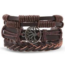 VKME браслеты в богемном стиле, женские и мужские многослойные кожаные браслеты, бижутерия, винтажный этнический подарок(Китай)