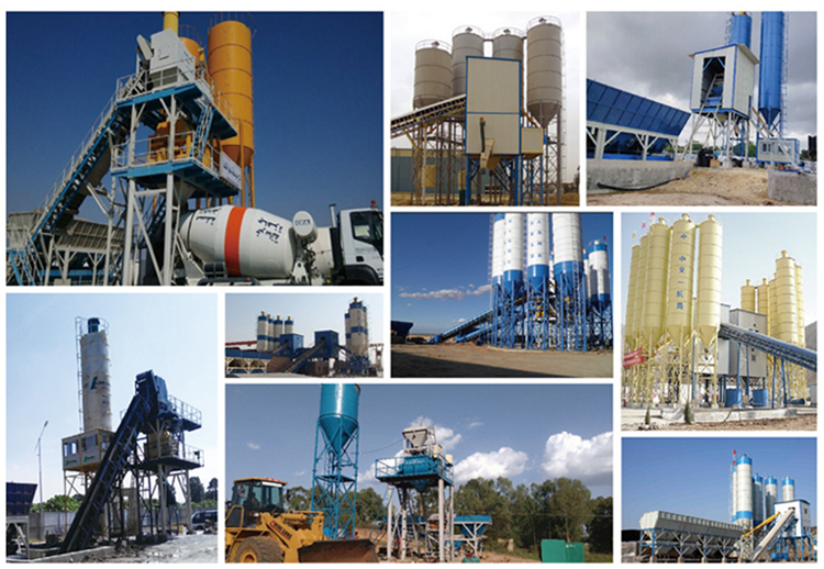 China Professional Building Material Machinery Batching Plant Concrete Mixing Plant For Qunfeng