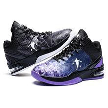 Мужская спортивная баскетбольная обувь с воздушной подушкой, высокие баскетбольные кроссовки, мужские ботинки, уличная Нескользящая спорт...(Китай)
