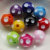 Loose Bulk 12mm 14mm 16mm 18mm 20mm 24mm Resin Polka Dot Chunky Beads For Fashion Kids Necklace
