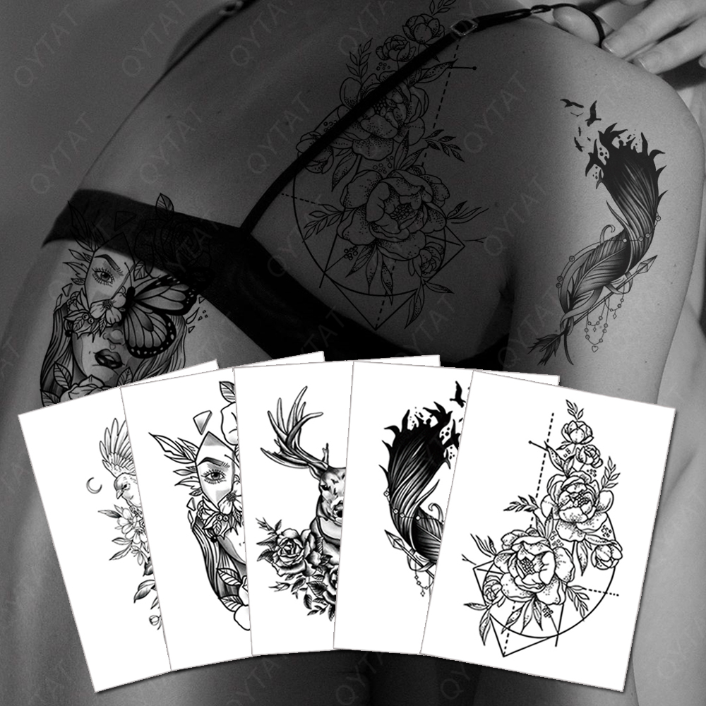 QYTAT Tattoo Factory High Quality More than 5000 Different Designs Sticker Tatoo Water Transfer Fake Wholesale Temporary Tattoo