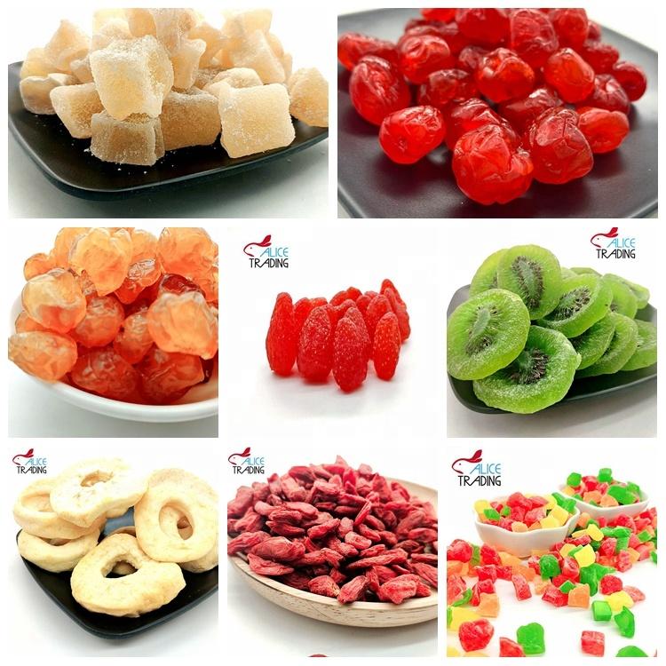 Сушеные фрукты kiwi/клубника/вишня/имбирь/дата