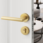 Key Latest Design Interior Bedroom Door Handle Gold Split Lock With Key