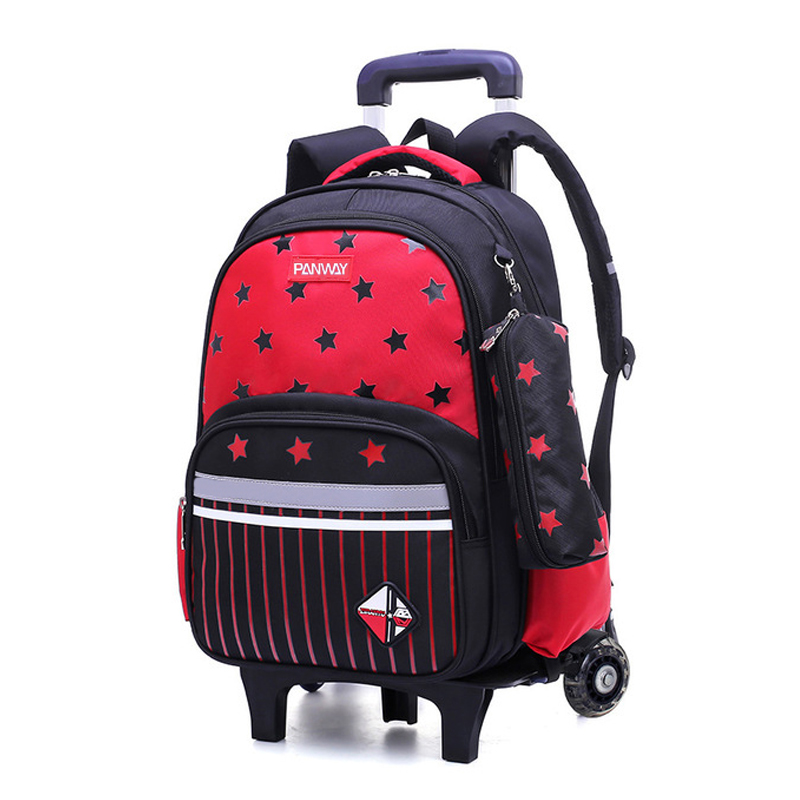 School bags kids children Customizable student travel trolley kids luggage trolley school backpack bag