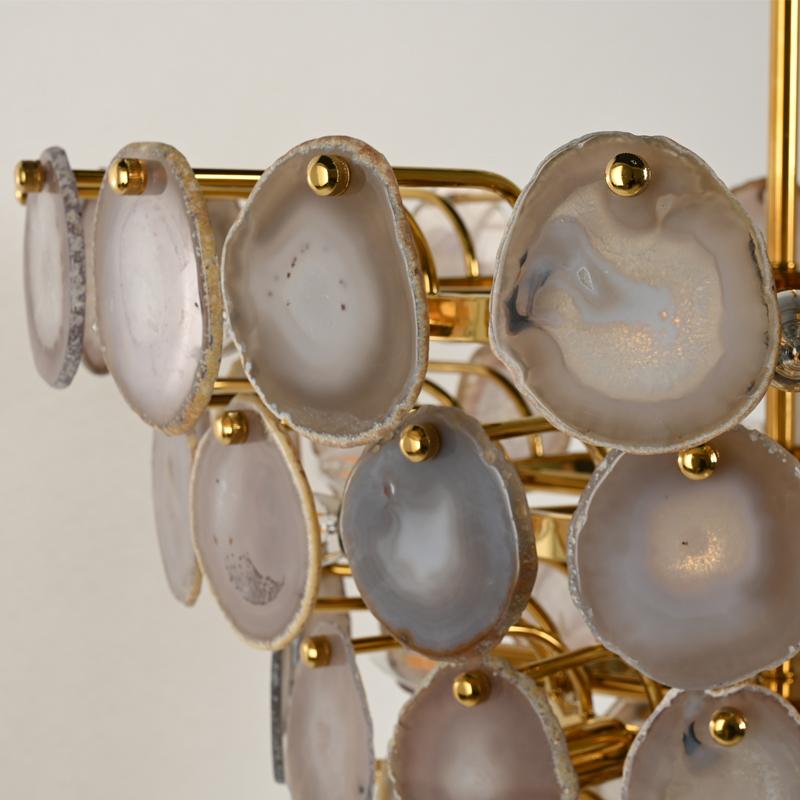 Индивидуальный Проект отеля, роскошный большой светильник, фиксированный потолочный светильник в современном агатовом камне