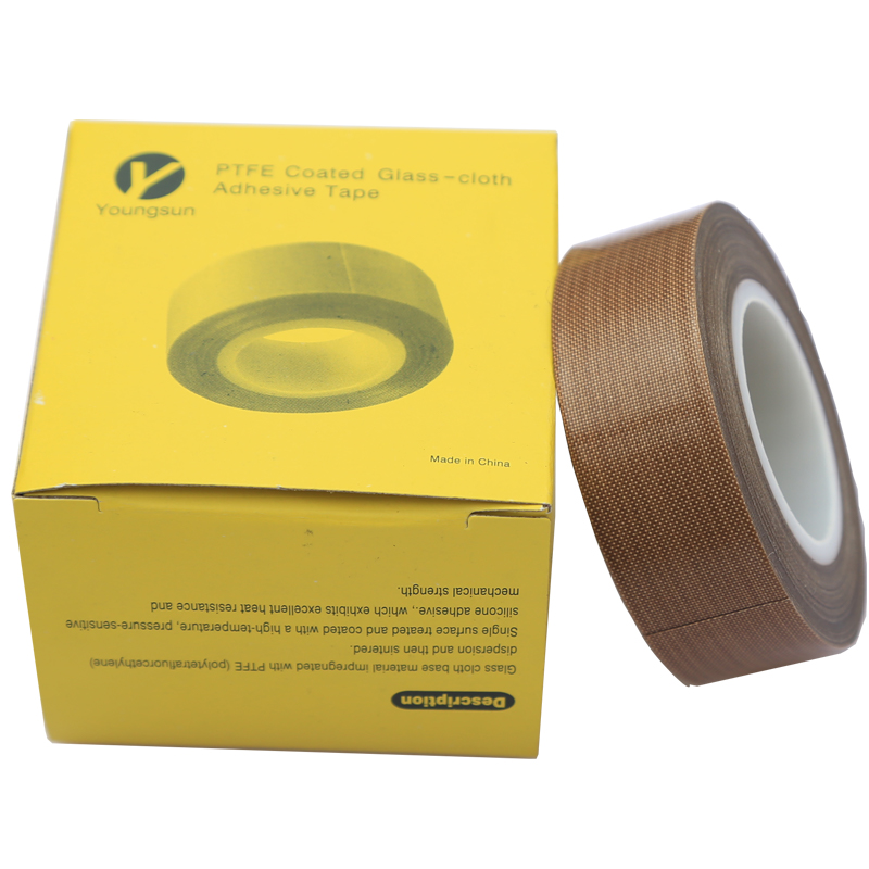High Temperature PTFE silicone Adhesive fiber glass cloth Tape for heat sealing