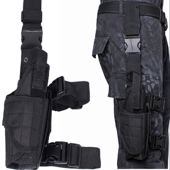Chenhao Adjustable Handed Thigh Universal Durable Tactical Leg Holster for Airsoft Paintball Hunting Army Combat