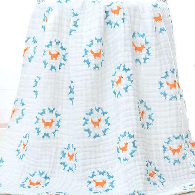 custom fabric printing muslin gauze fabric