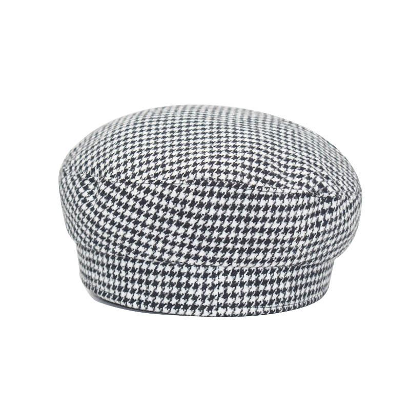 Rhinestone Ladies Military Hats Autumn Winter Casual Flat Hat Black Beret Women Newsboy Cap Octagonal Cap Army Hat