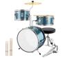 Blue 3 pic drum set
