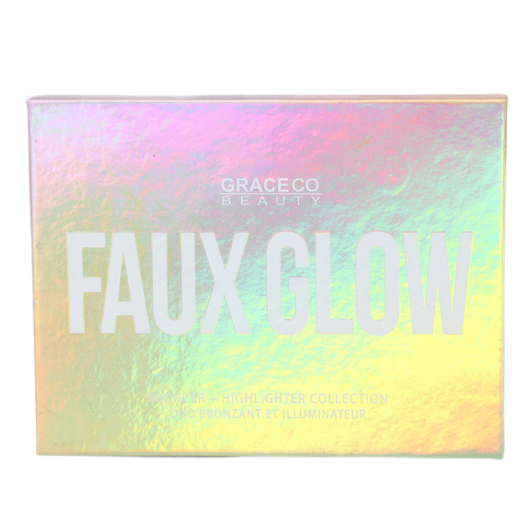 Good quality factory directly custom high pigment star highlighter palette cosmetics