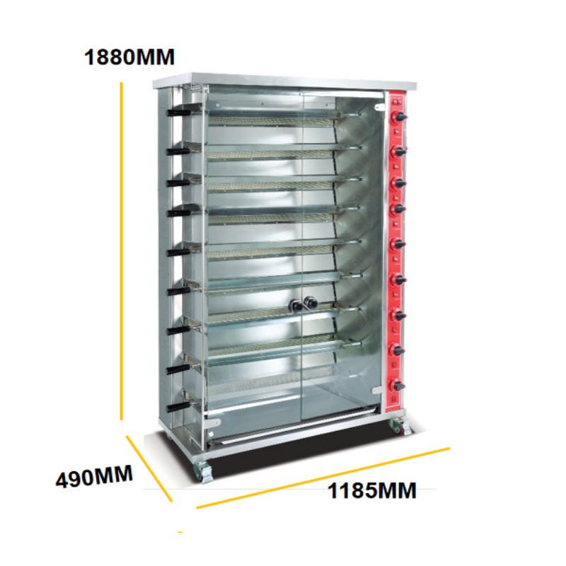Snack food equipment brazilian gas electric roster chicken machine rotisserie equipment