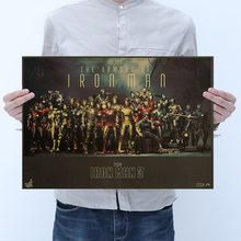 Винтажная голливудская классика AIMEER, фильмы капитан Марвел, Человек-паук, ретро постеры 52*36 см(Китай)