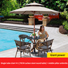 4 Teslin chair 1 carbon steel round table D70cm 1 patio umbrella