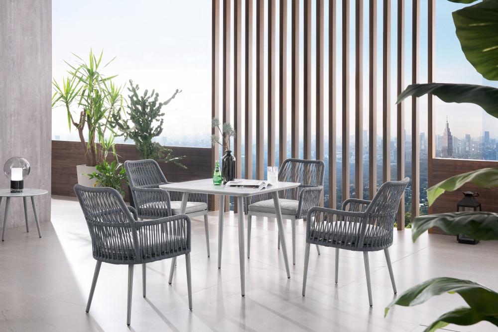 hotel aluminum rope sofa rope furniture modern dining rope chair