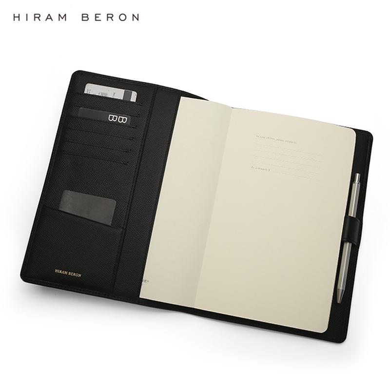 Hiram Beron Italian leather customized notebook cover wholesale