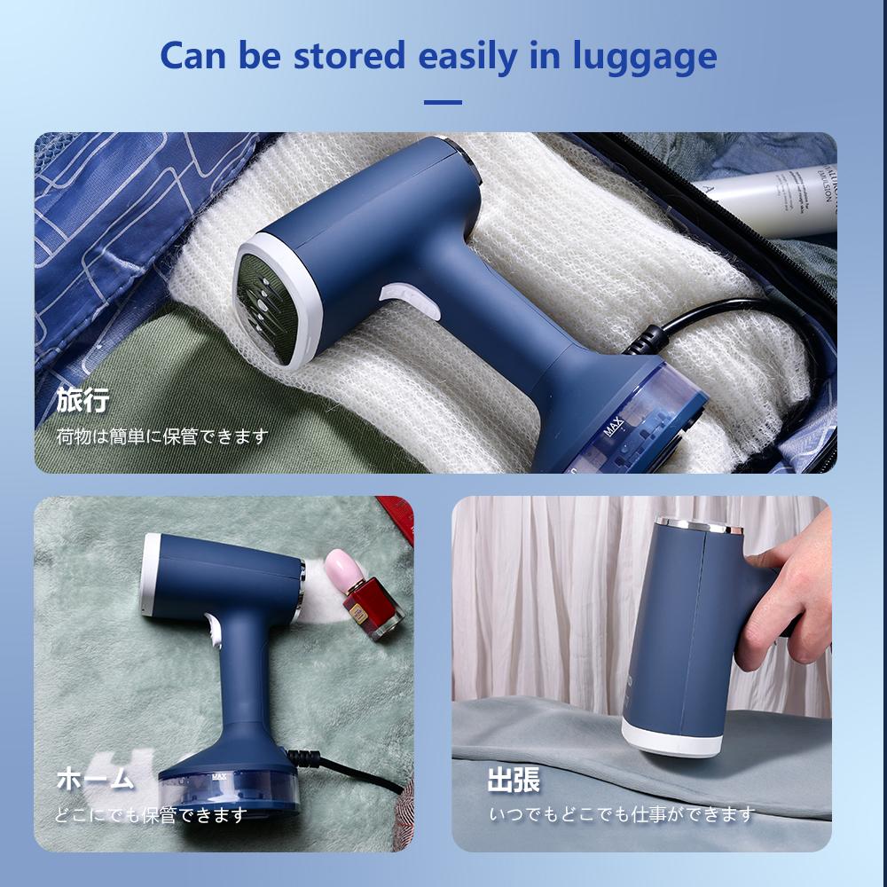 Прямая продажа с завода, ручной отпариватель для одежды, синий портативный отпариватель для одежды для домашнего использования
